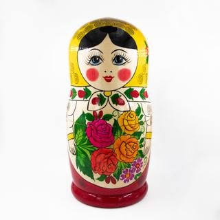Rossiyanochka - traditional nesting dolls, 10 dolls
