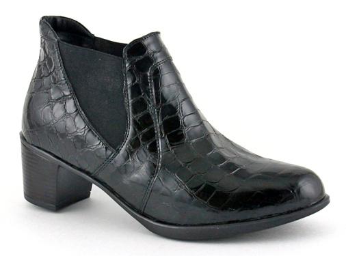 "Ortomoda / Orthopedic women's shoes ""Chelsea"" made of genuine leather, black"