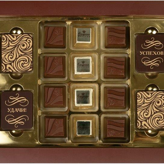Brown Congratulation - Bitter Chocolate with Decor and Assorted Chocolates 155 g