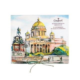 "Bitter souvenir chocolate ""St. Isaac's Cathedral"" 120 g"