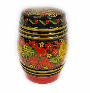 Barrel with lid Khokhloma