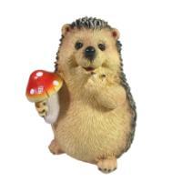 """Remeko / Decorative product """"Hedgehog with fly agaric"""" L9W8,5H11"""