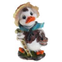 "Remeko / Ornamental garden figure ""Duck with a bucket"" L21W20H39 cm"