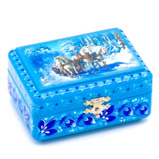 """The box """"Three horses"""" is wooden 90х70"""