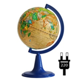 "Earth globe political relief ""Retro-Alexander"" backlit"
