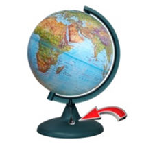 """Earth Globe """"Double Map"""" embossed with backlit batteries (battery included!) NEW"""