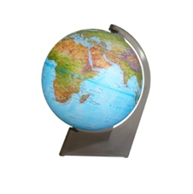 Geographical Earth Globe on a Triangle