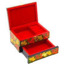 Box under the decoration of wooden traditional Khokhloma painting decoration 170х130