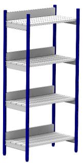 """Racking system """"KREPYSH"""", 4 shelves, 2000х900х500"""
