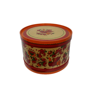 "Wooden box with lid ""Boretskaya painting"" round 23.5 cm"