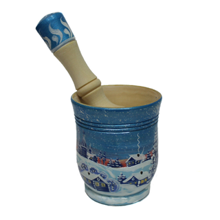 """Mortar with pestle wooden """"Winter"""""""