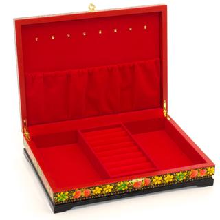 Casket for jewelry wooden Bird 320x240x70