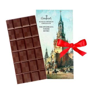 """Greeting card small"" Moscow retro ""- dark chocolate 60 g"