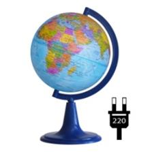 Earth globe political backlit