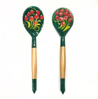 "Spoon wooden tea ""Zelenushka"""