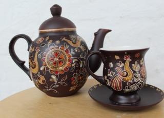The tea pot ceramic painted