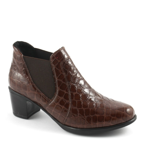 """Ortomoda / Orthopedic women's shoes """"Chelsea"""" made of genuine leather, brown"""