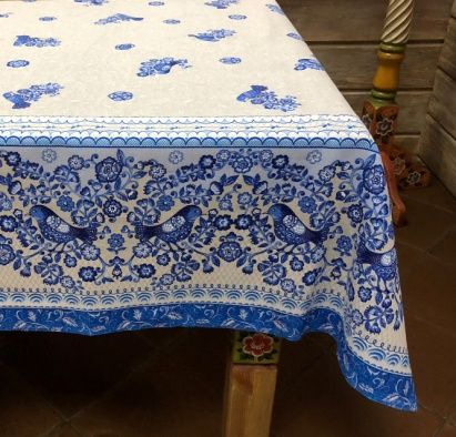 "Gift workshop / Matting tablecloth ""Birds"" 150x180"