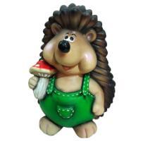 "Remeko / Decorative figure ""Hedgehog with a mushroom"", L28W31H41 cm"
