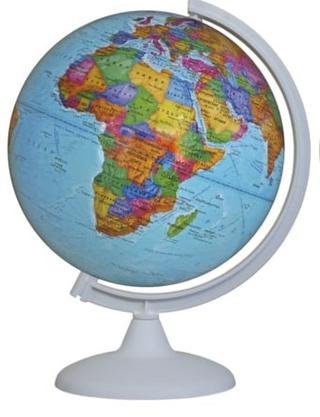 Political globe 250 mm colour arc stand