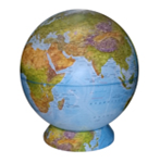 Physical Earth Globe on a Cartographic Stand NEW