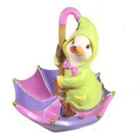 "Remeko / Decorative figure ""Duckling on an umbrella"" L19W19H21"