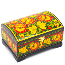 "The box ""Hohloma"" is wooden with half round lid 170х110"