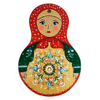 "Board kitchen wooden ""Matryoshka. Shenkursk painting"""