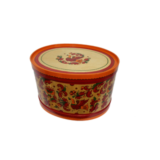 "Wooden box with lid ""Boretskaya painting"" oval-27.5 cm"