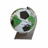 Globe Souvenir football globe on a triangular stand