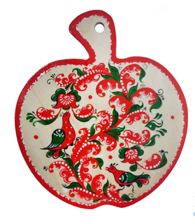 "Board kitchen wooden ""Apple. Severodvinsk painting"""