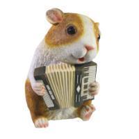 "Remeko / Decorative item ""Guinea pig with an accordion"" L10W13,5H17"