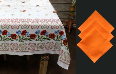 The cloth of twill 'Poppies' with napkins