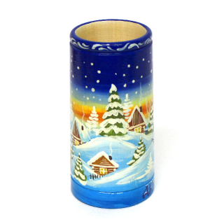 "The wooden pencil holder ""Winter"""