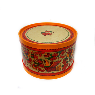 "Wooden box with lid ""Boretskaya painting"" round 21 cm"