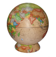 Earth globe political 'Retro-Alexander' on a cartographic stand NEW