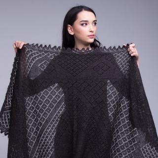 """Shawl """"Royal lady"""", Orenburg shawl"""