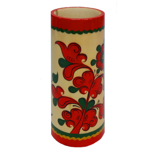 "Pencil holder wood ""Pyermogori painting"""