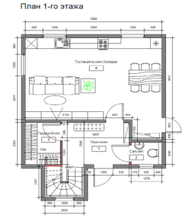 Frame country houses Zhilino 1 option, the project 632, the Prod