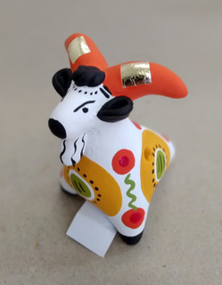 Whistle-goat 6 cm, Dymkovo toy