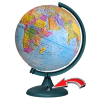Earth globe political relief