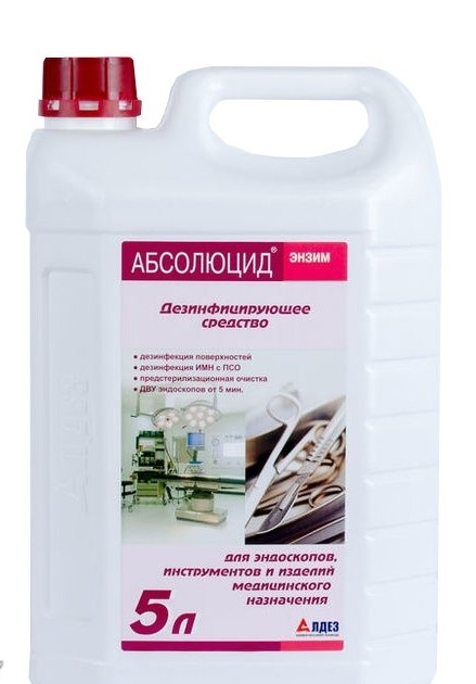 Absoluzid of the Enzyme, the preparation of cleaning and disinfectant - 5 l