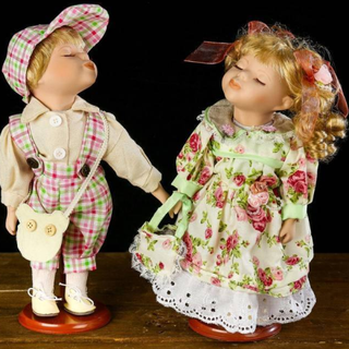 "Porcelain doll ""Oksana and Misha"""