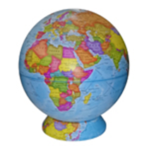 Political Earth Globe on a Cartographic Stand NEW