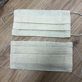 Double-layered masks of gauze reusable