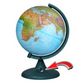 Earth Globe Geographical with battery backlighting (battery included!) NEW - view 1