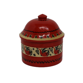 "Salt shaker wooden ""Mezenskaya painting. Birds"""