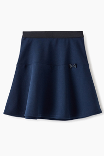 Skirt knit elastic blue color for girls