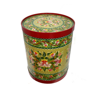 "Wooden box with lid ""Onega painting"" round 54 cm"