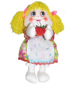 """Gift workshop / Textile doll """"Dasha without a kerchief"""""""